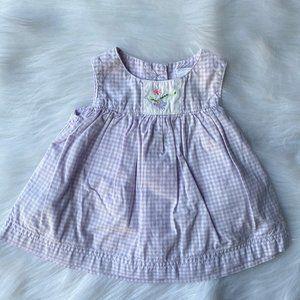 Gap Baby Newborn Girls Lavender Gingham Sundress